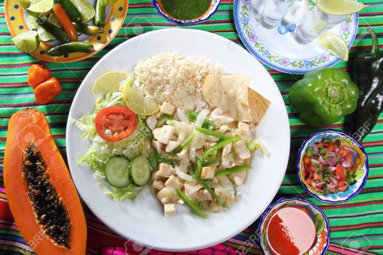 chicken mojo de ajo garlic sauce mexican chili sauces papaya and tequila Stock Photo - 9227207