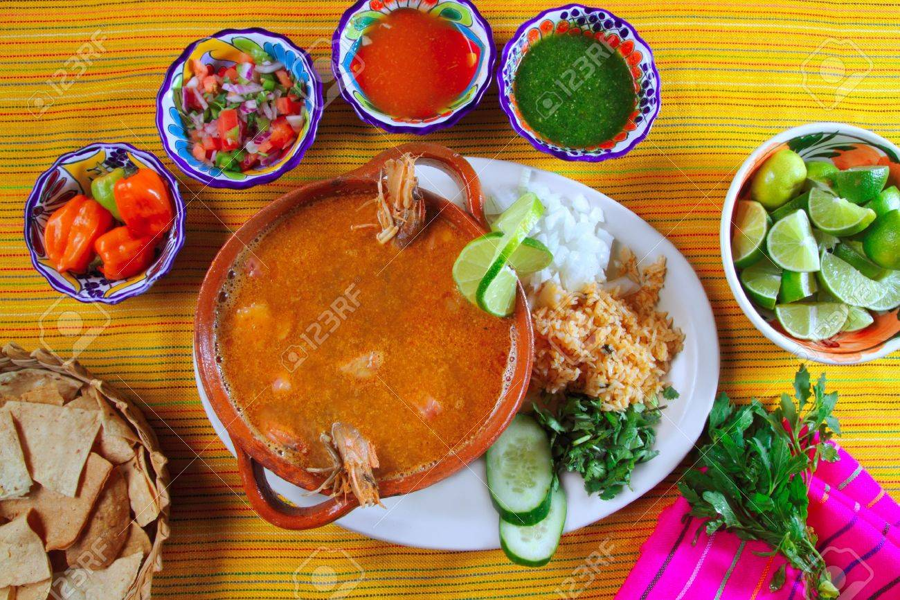 Shrimp Seafood Soup Mexican Chili ...