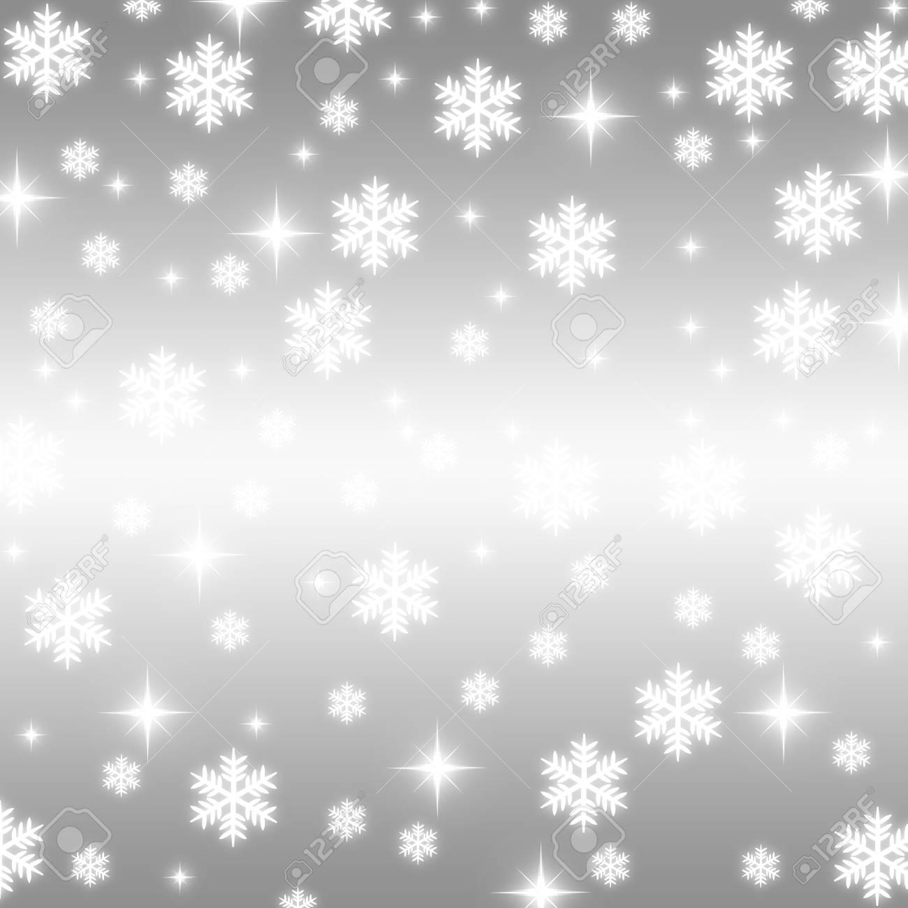 クリスマス雪の結晶と星イラスト背景 ロイヤリティーフリーフォト