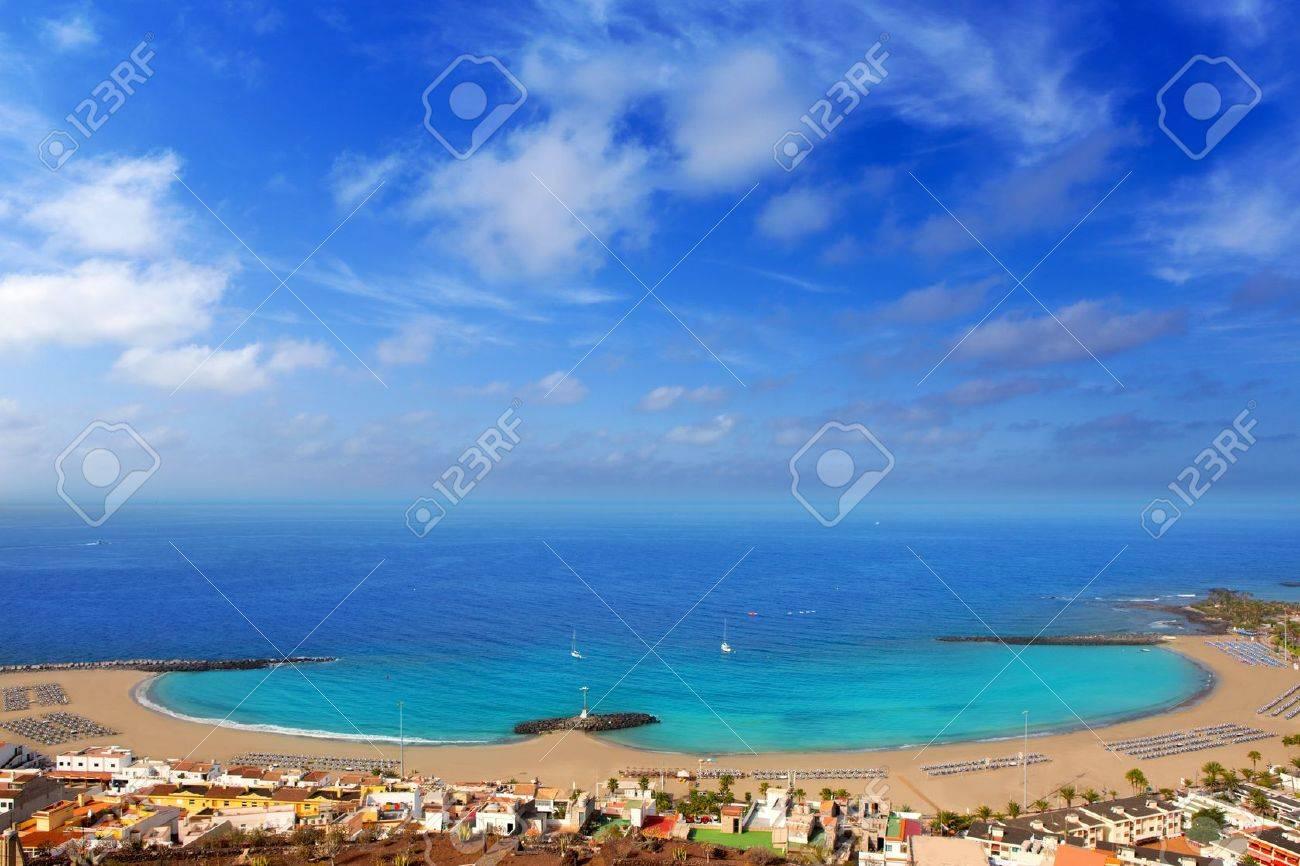 Aerial view Las Vistas beach in Arona south Tenerife - 15275128