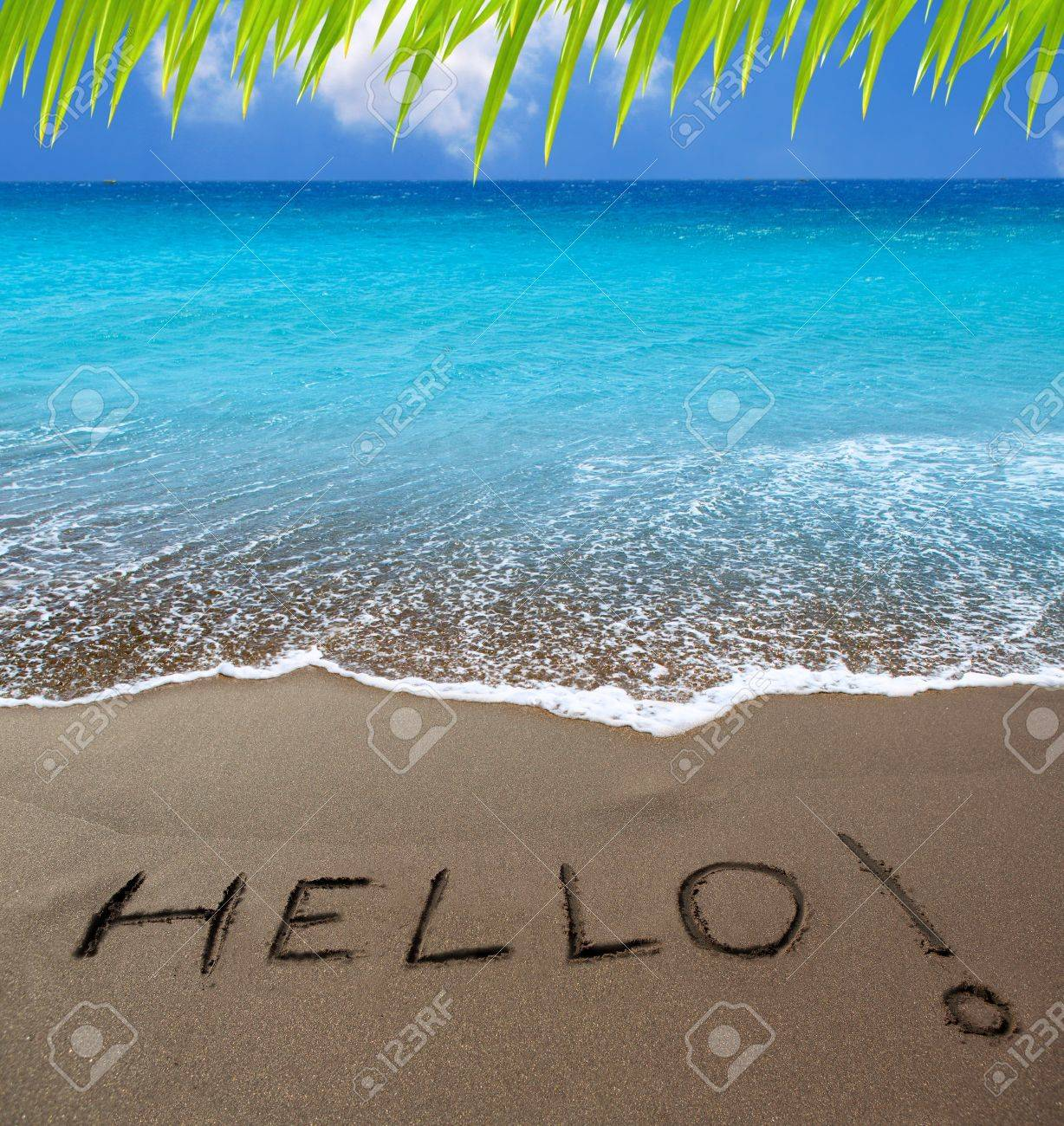 Dimanche 13 juin. 15275318-plage-de-sable-brun-avec-%C3%A9crit-bonjour-%C3%A0-%C3%8Eles-canaries