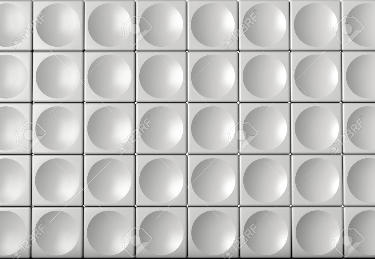 Abstract indoor futuristic indoor with acoustic wall with circles Stock Photo - 15901633