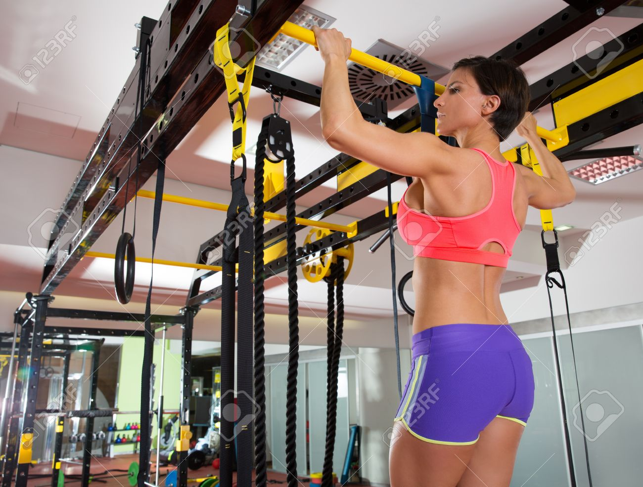 Pull Ups 2 Bars With Trx