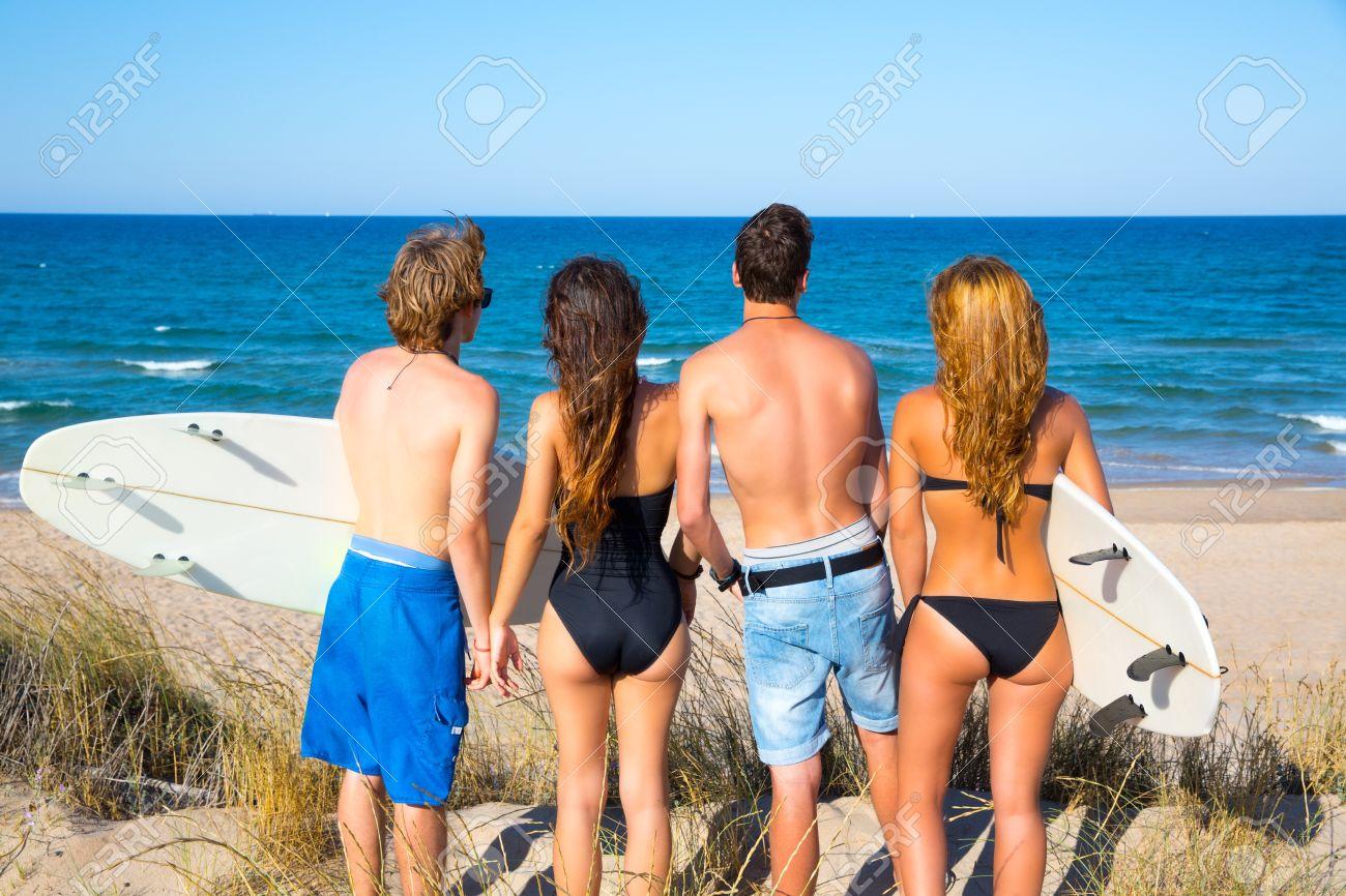 Фото вид сзади на пляже 1 фотография