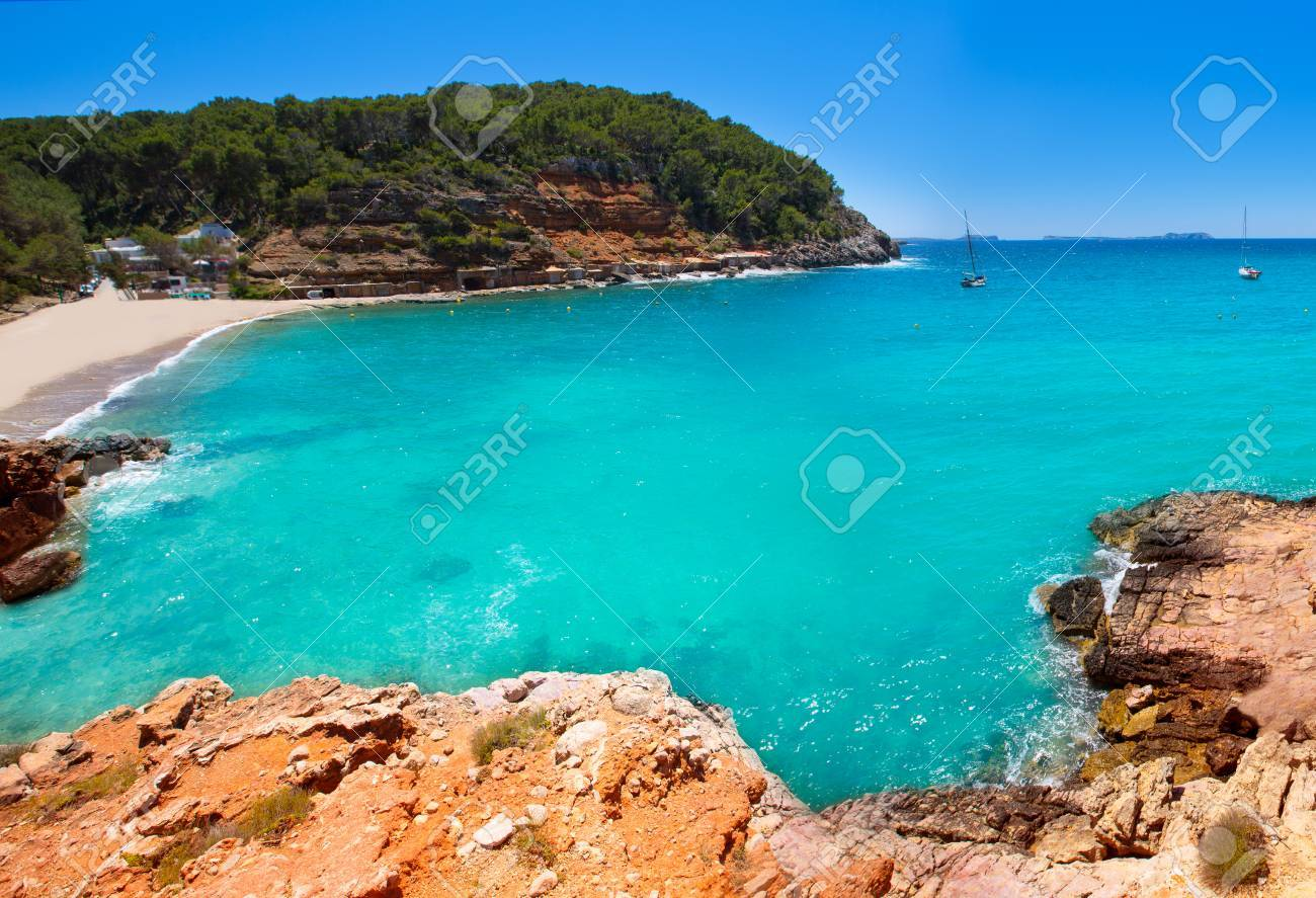 Ibiza Cala Salada In San Antonio Abad At Balearic Islands Spain Stock Photo Picture And Royalty Free Image Image 22735584