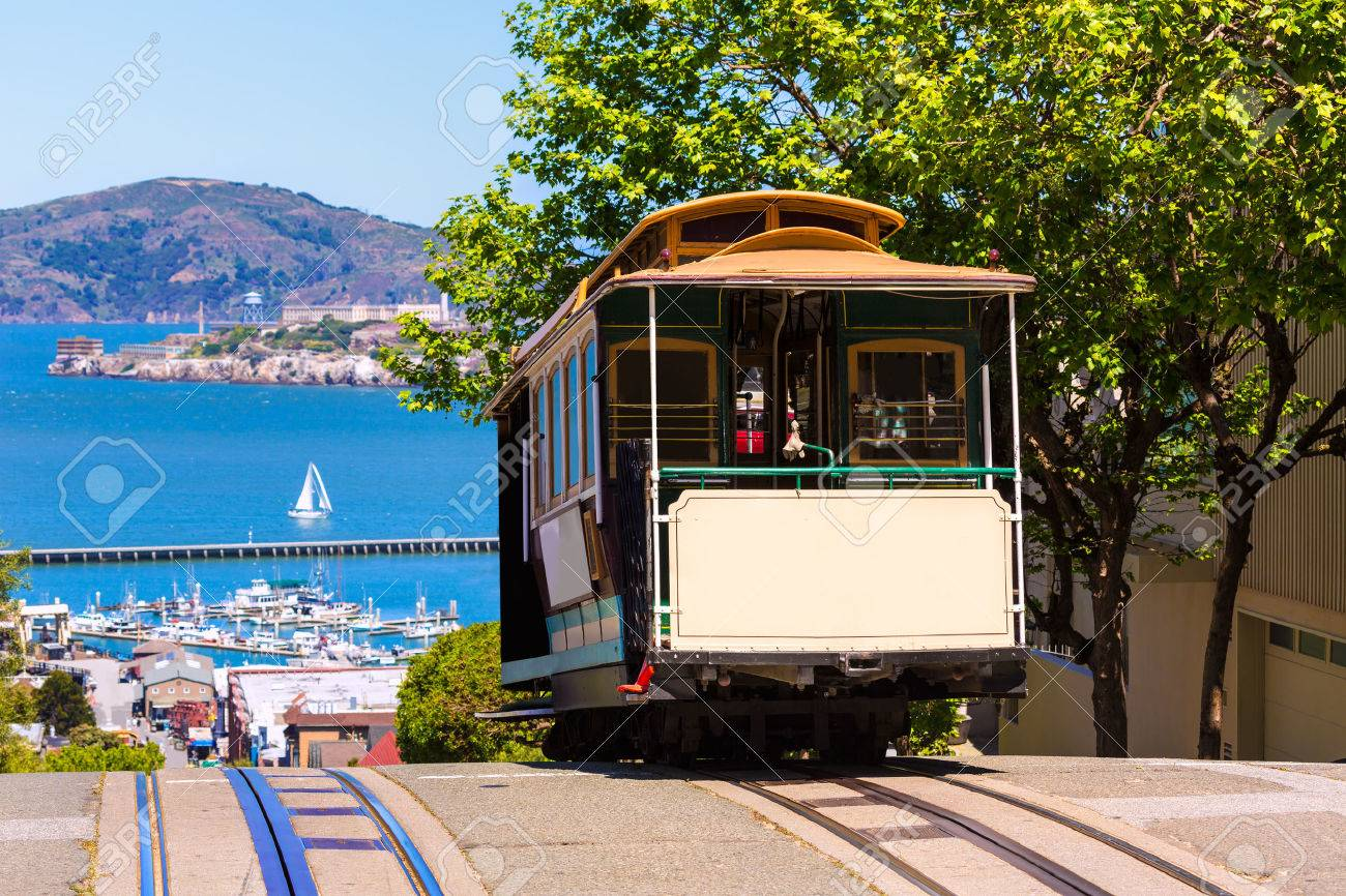 San francisco Hyde Street Cable Car Tram of the Powell-Hyde in California USA - 25147975