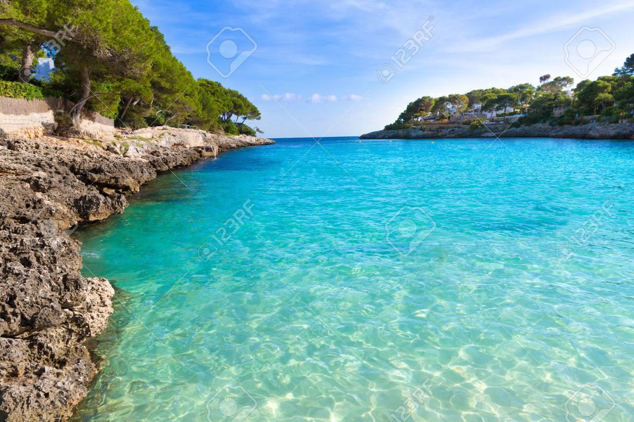 Majorca Cala Gran Beach In Cala Dor In Mallorca Santanyi At Balearic