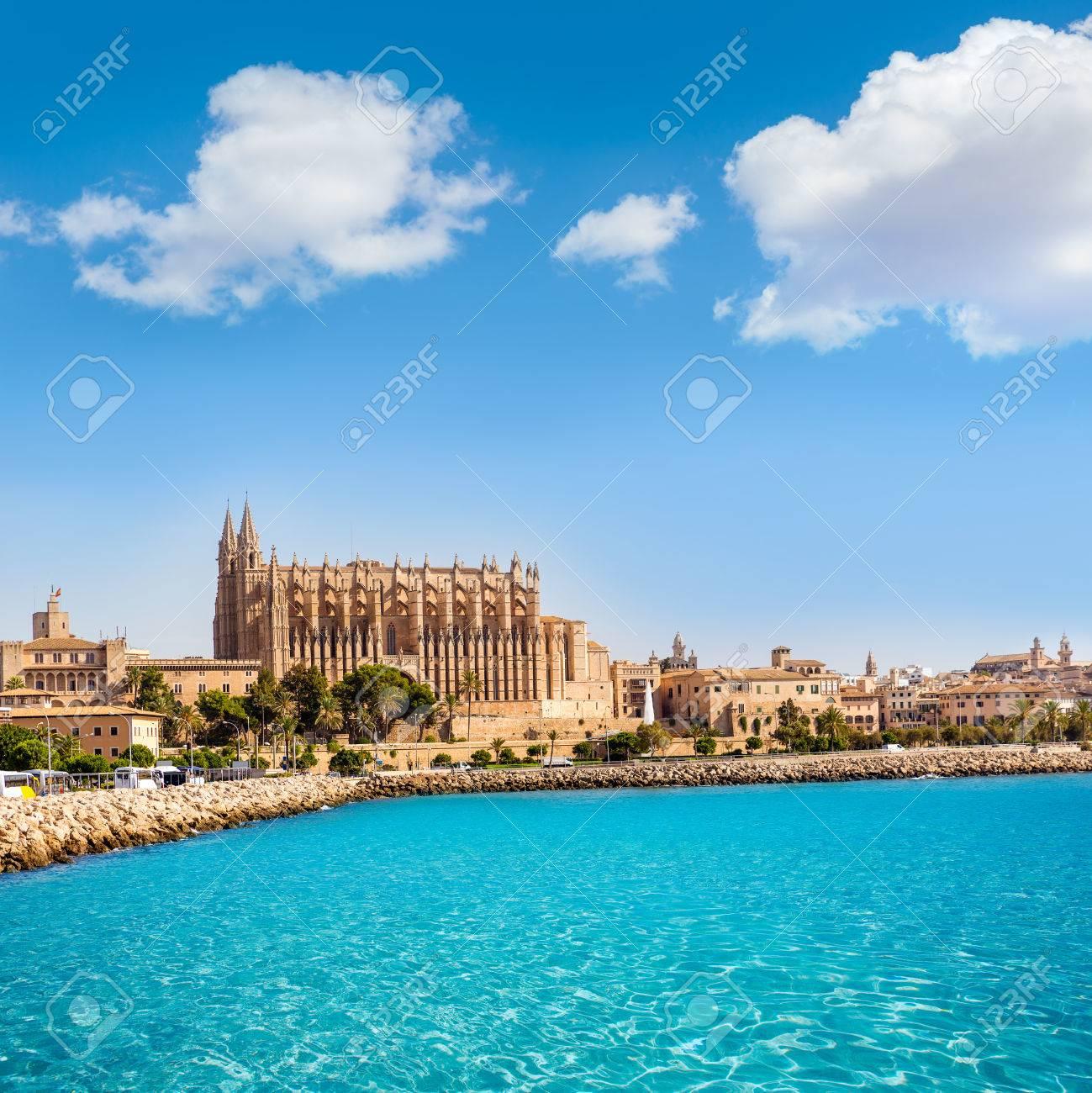 Majorca Palma Cathedral Seu Seo of Mallorca at Balearic Islands Spain - 37632596