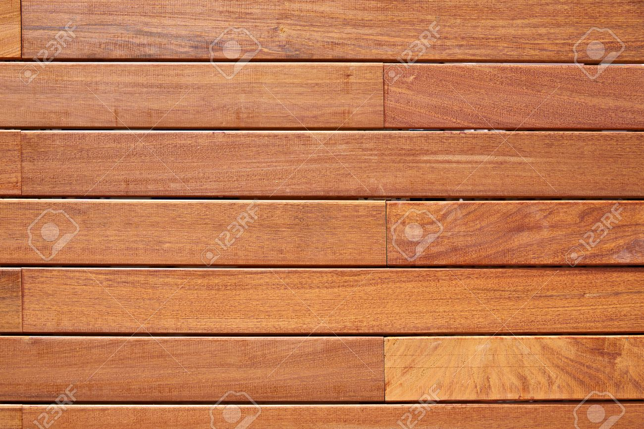 Ipe Teak Wood Decking Fence Pattern Tropical Wood Texture Background