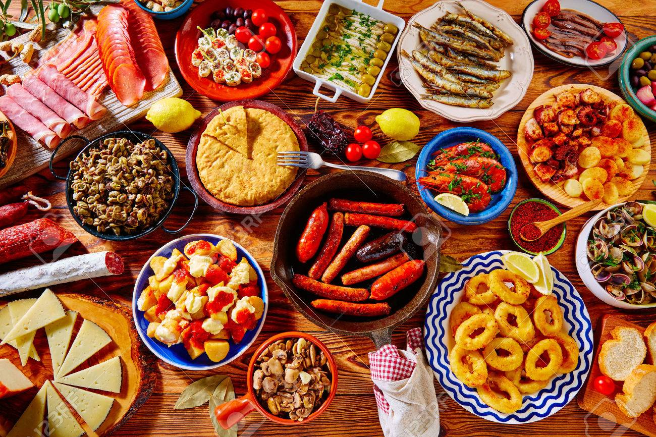 tapas from spain varied mix of most popular tapa mediterranean