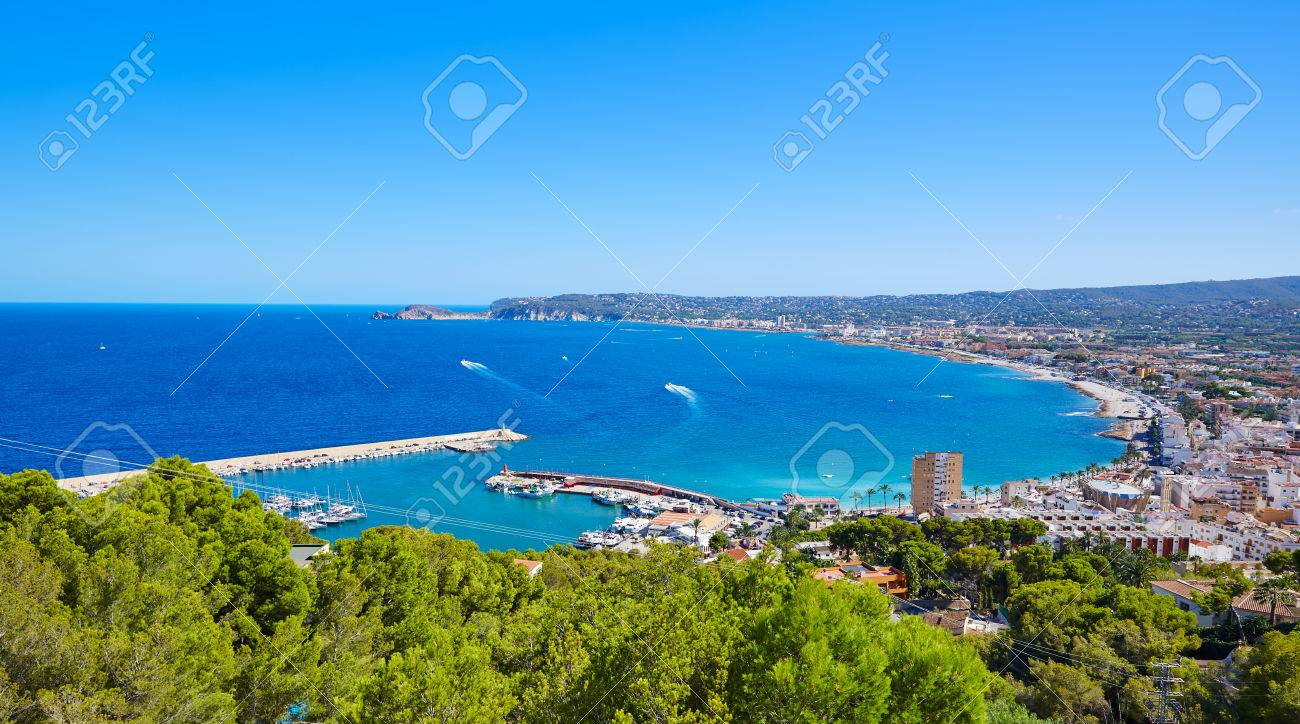 Javea Xabia village aerial view in Mediterranean sea of Alicante spain - 52519277