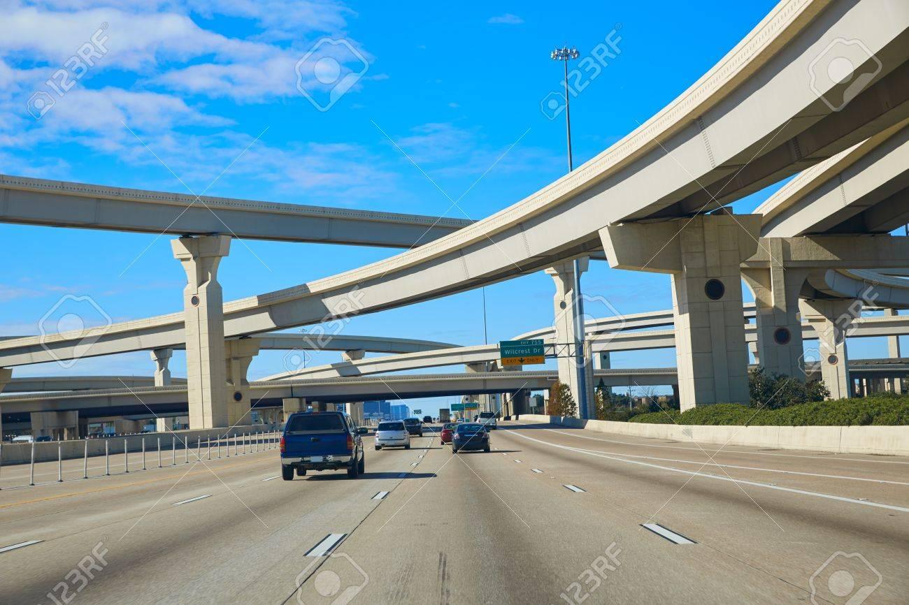 Houston texas crossroads bridges in USA - 58896654
