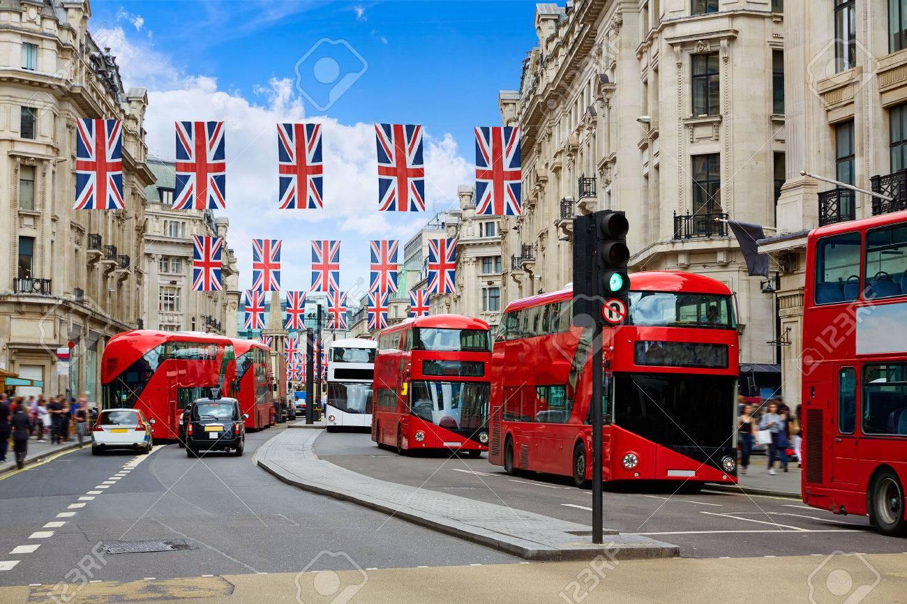 London bus Regent Street W1 Westminster in UK England - 71325424