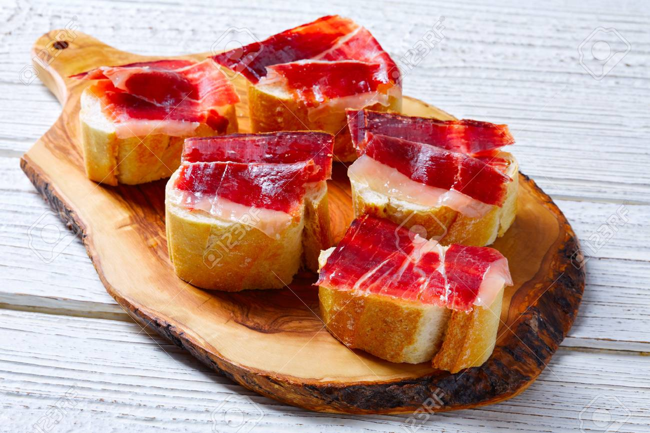 iberian ham from Spain tapas pinchos food recipes - 73357641
