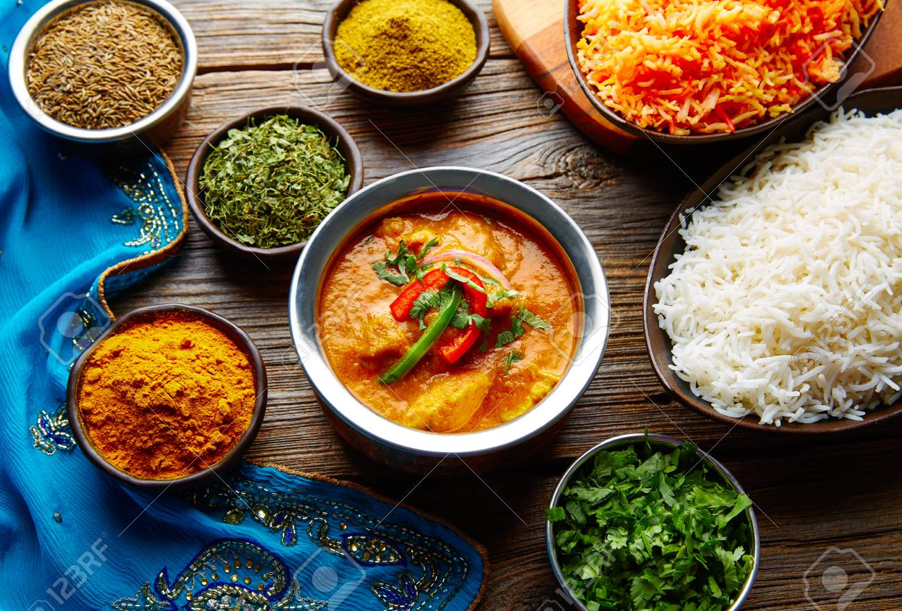 Chicken jalfrazy indian food recipe with spices and rice on wood chicken jalfrazy indian food recipe with spices and rice on wood stock photo 78568127 forumfinder Choice Image