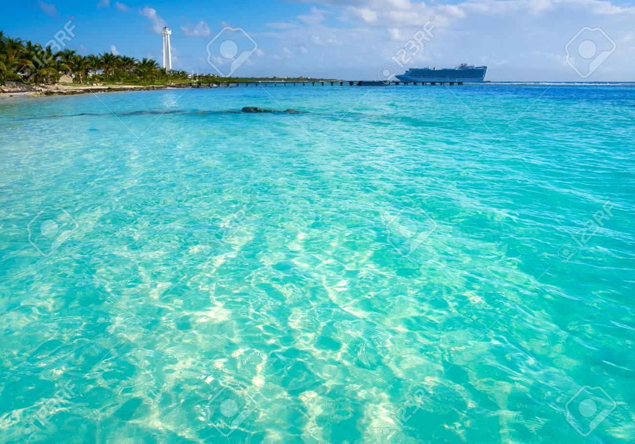 mahahual caribbean beach in costa maya of mayan mexico stock photo