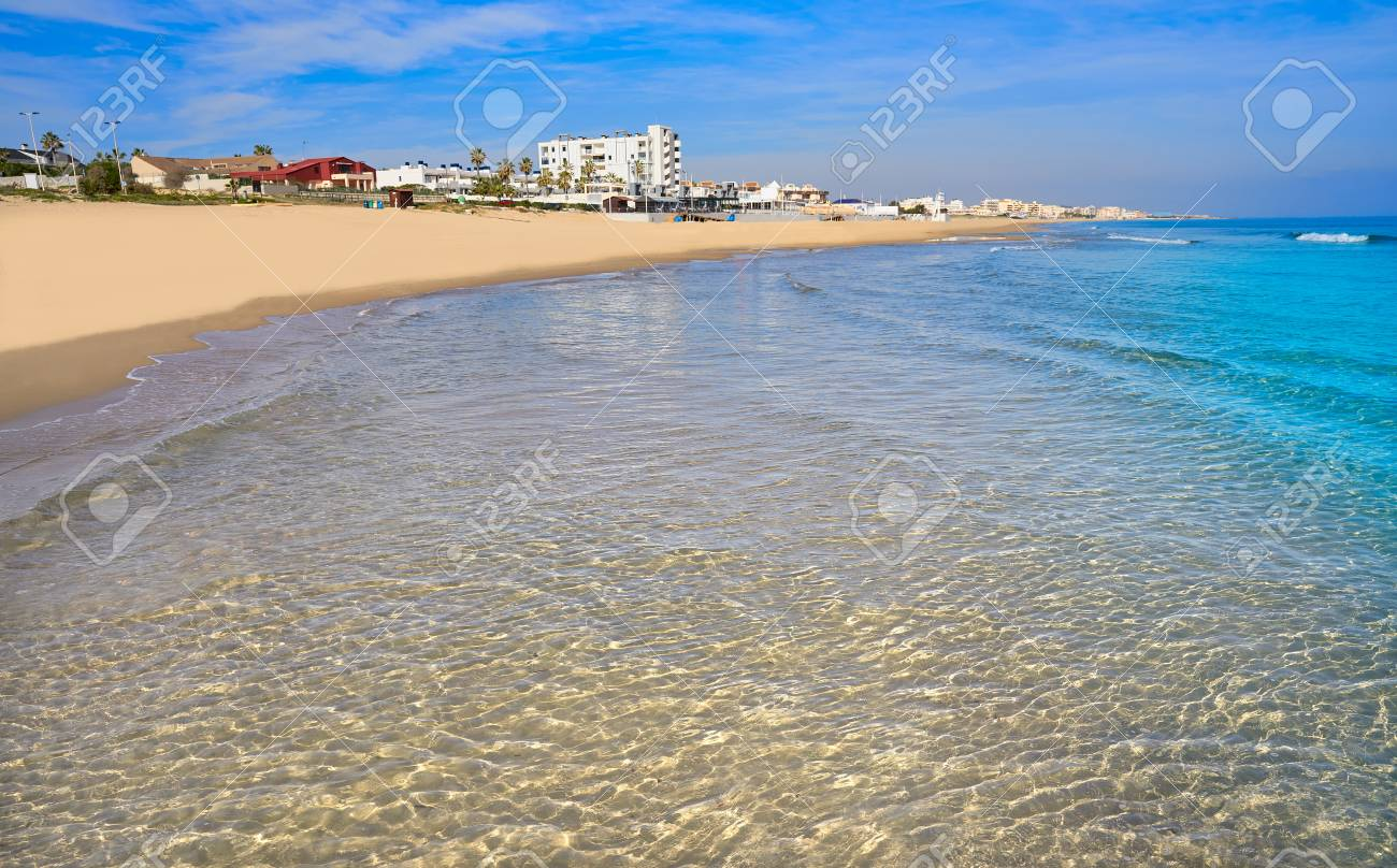 Playa De La Mata Beach In Torrevieja Of Alicante In Spain At Stock Photo Picture And Royalty Free Image Image 115800855