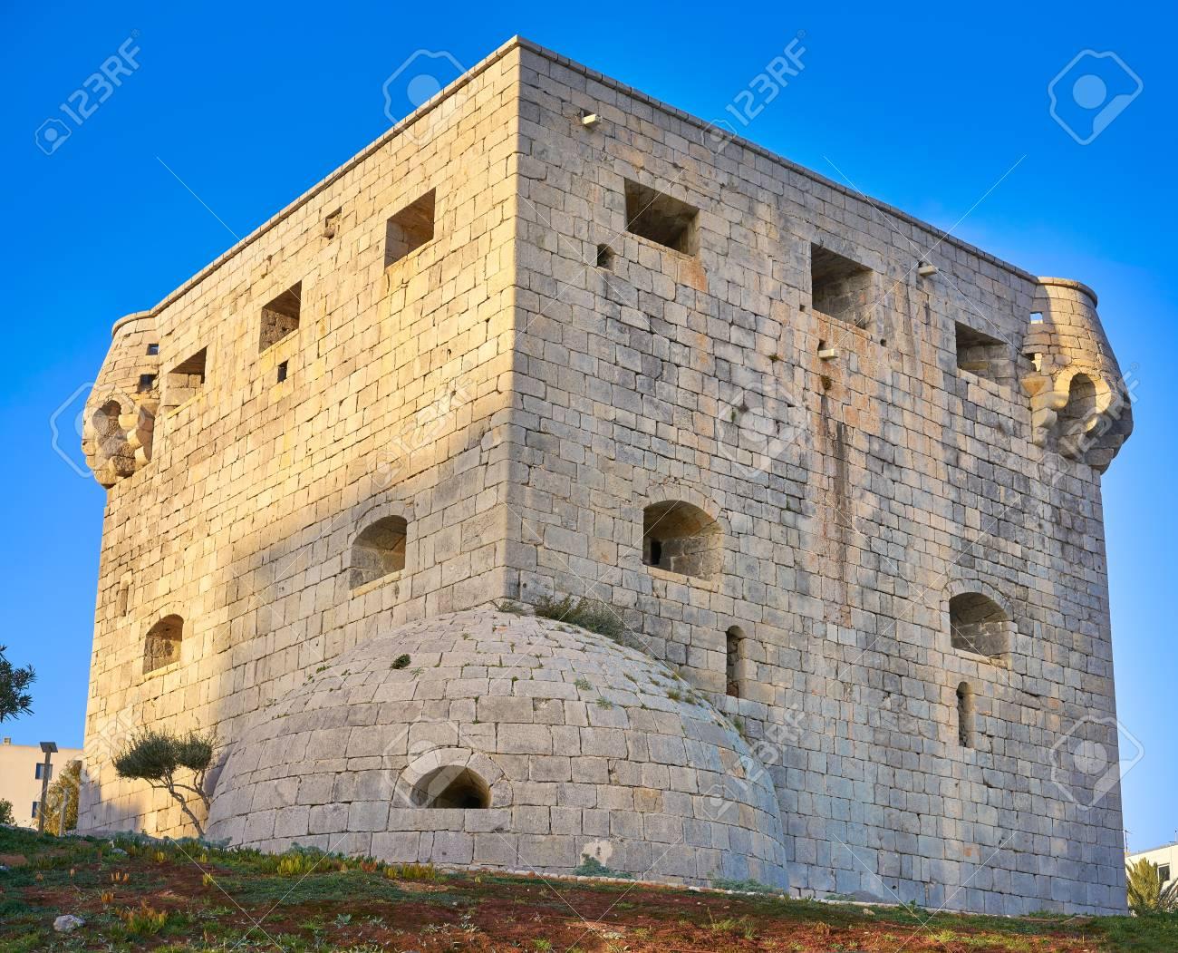Torre Del Rey Tower At Oropesa De Mar In Castellon Spain