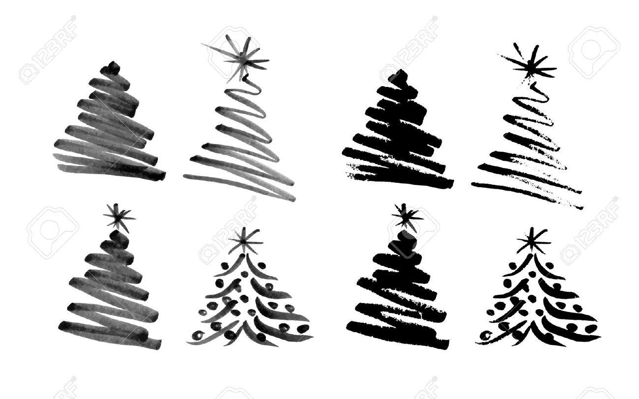 Hand sketch christmas tree illustration stock vector 33837276