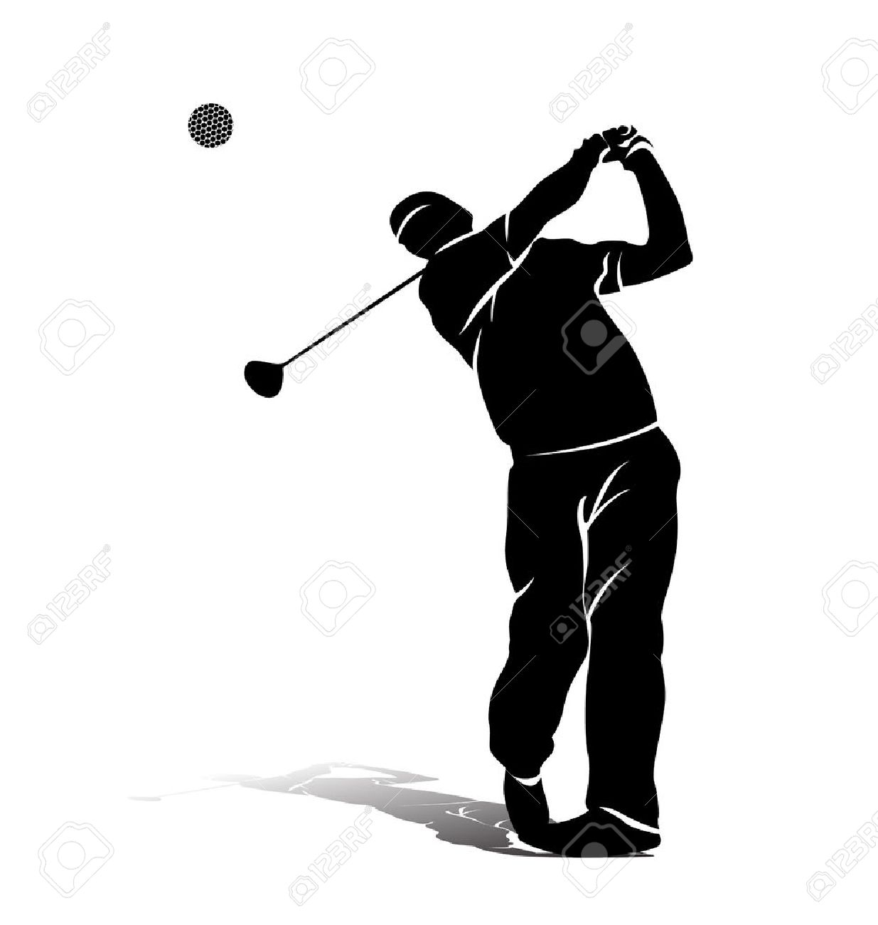 vector silhouette of a golfer royalty free cliparts vectors and rh 123rf com golf victoria bc golf victoria bc