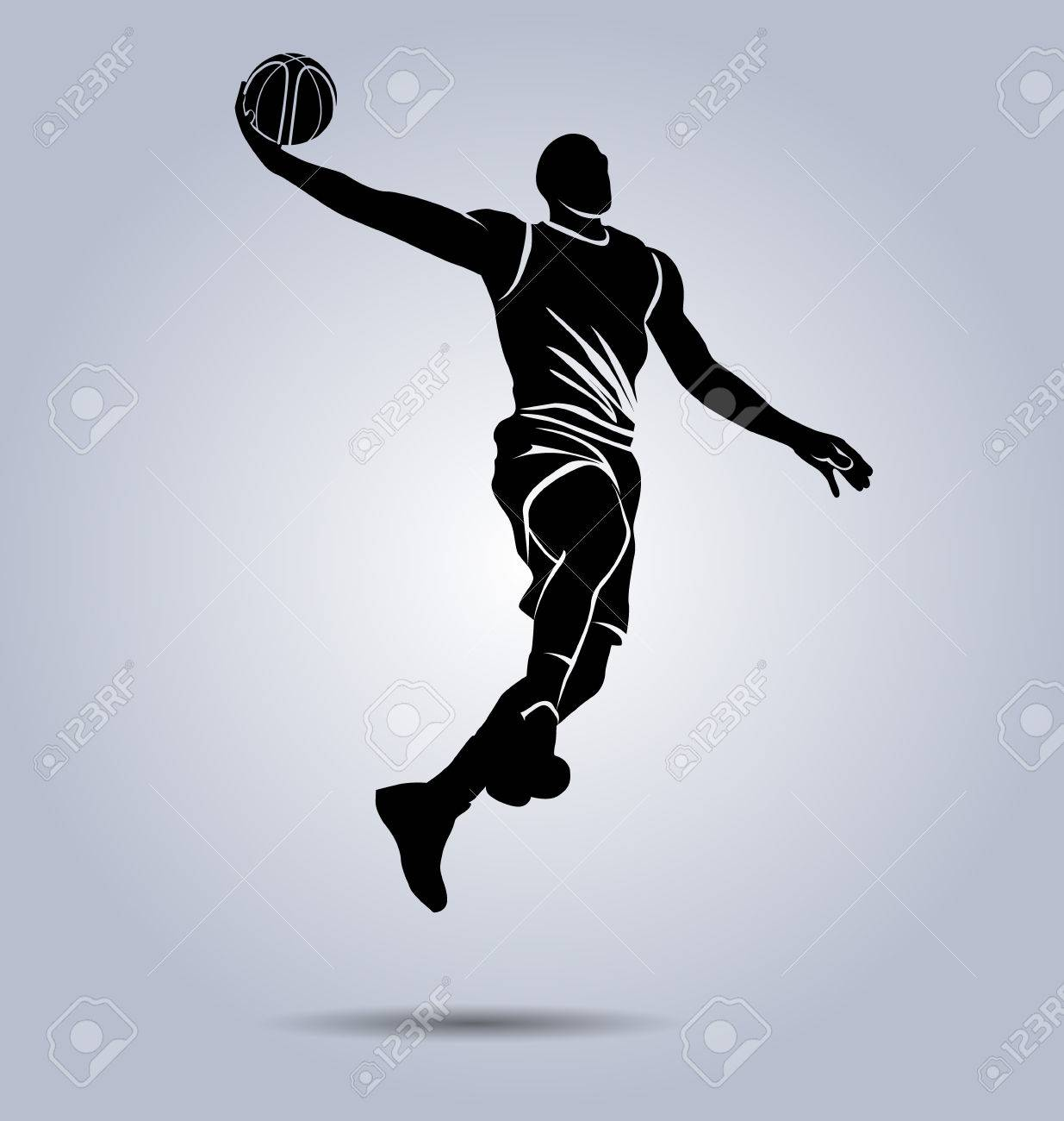 Silhouette of a basketball player - 86621171