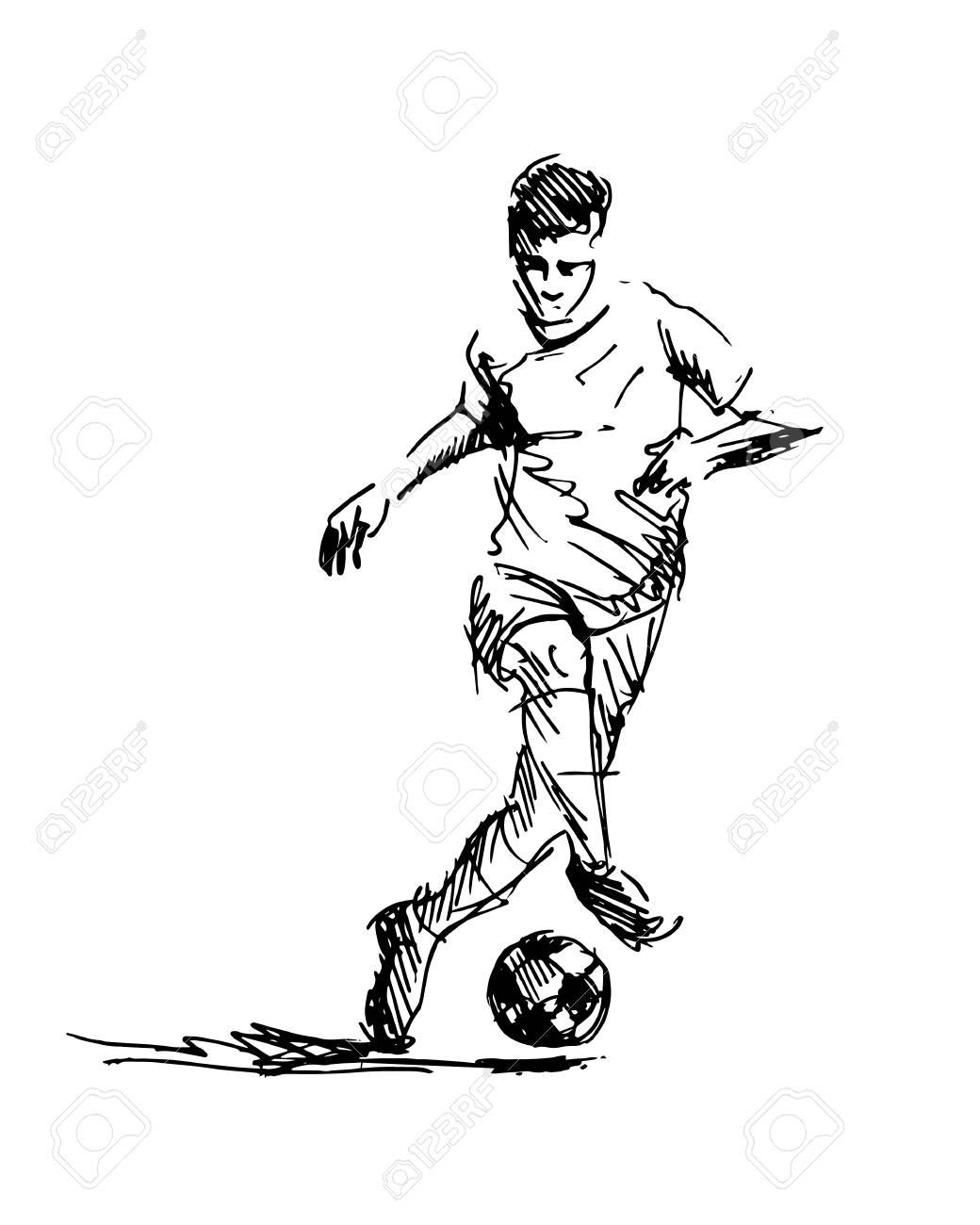 Hand sketch of soccer. Vector illustration - 98511886