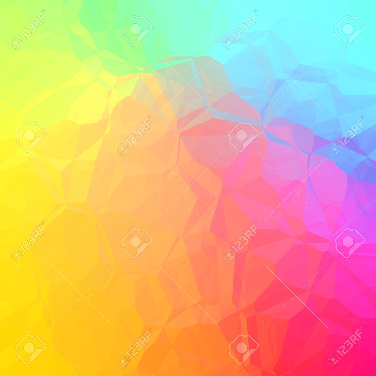 Blue Yellow Pink Green Beautiful Gbackground Abstract Geometric