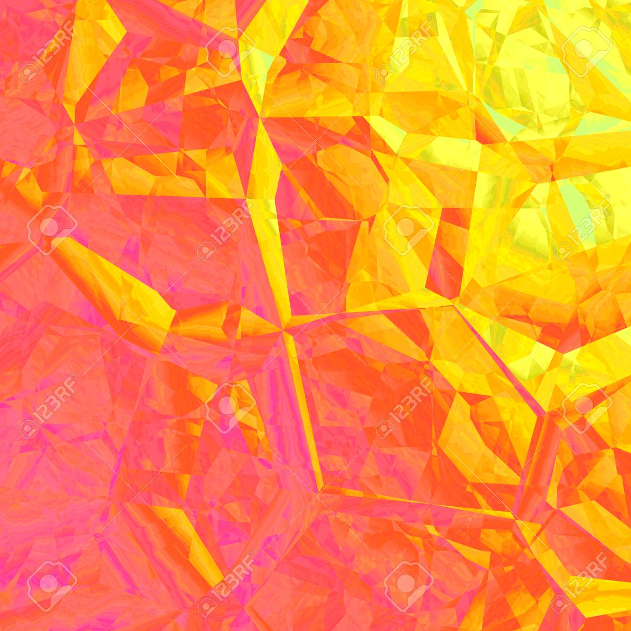 Yellow Orange Abstract Geometrical Background Design Graphic
