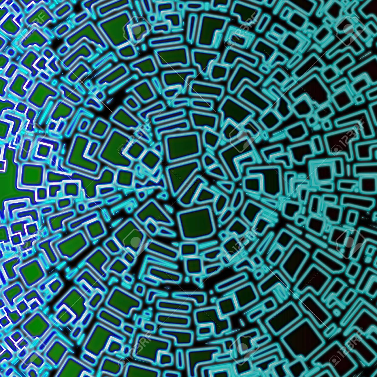 Blue Green Abstract Geometrical Background Design Graphic In Stock