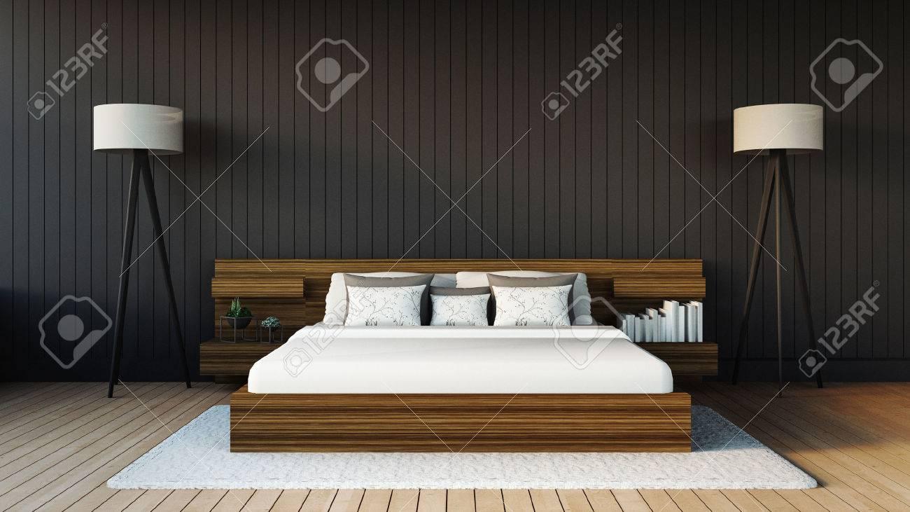 Chambre à coucher moderne banque d'images et photos libres de ...