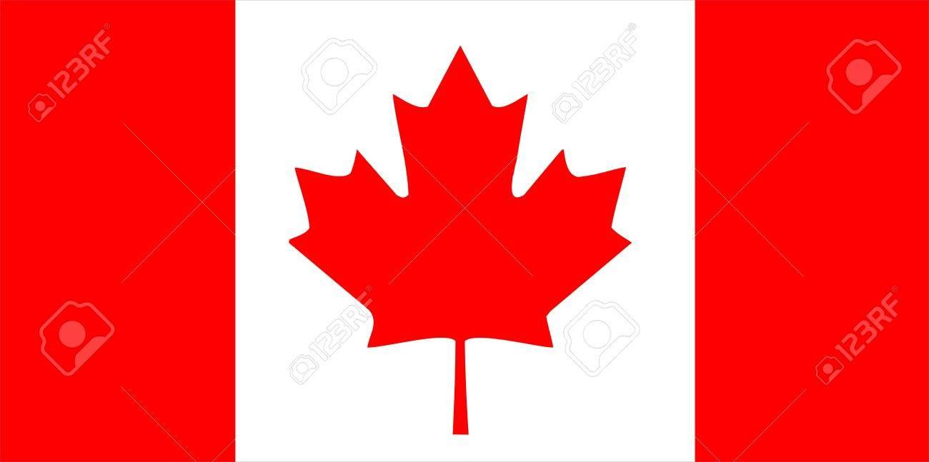 カナダ国立国の旗の記号の図 ロ...
