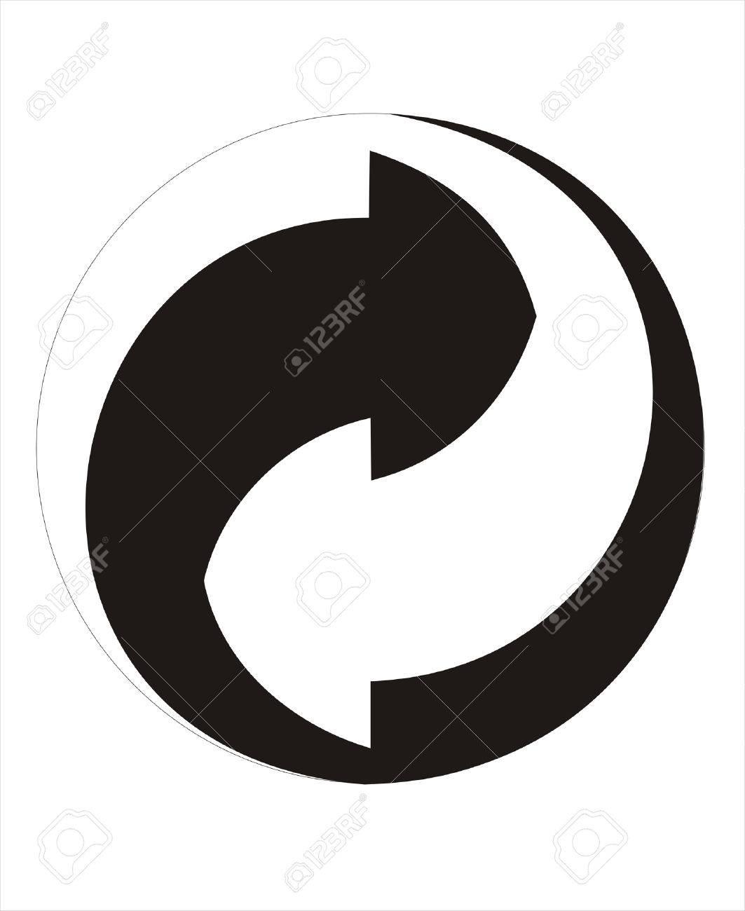 Der Grune Punkt Recycle Sign Stock Vector - 4316222