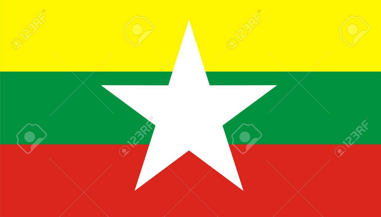 computer generated myanmar new flag very big size - 10739485