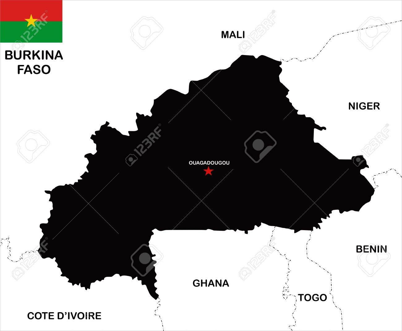 very big size burkina faso map illustration Stock Illustration - 12061277