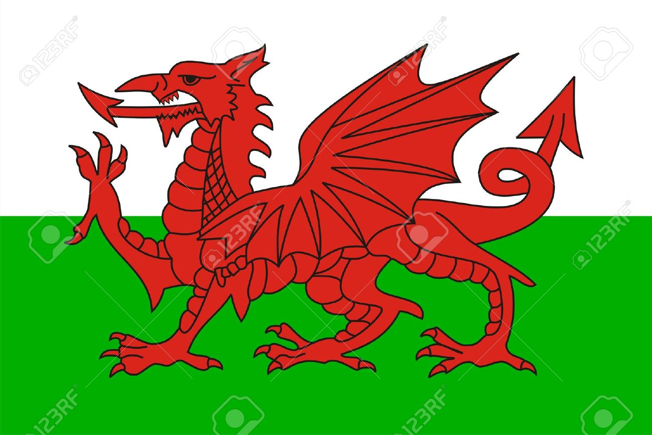 very big size wales country flag illustration - 13119386