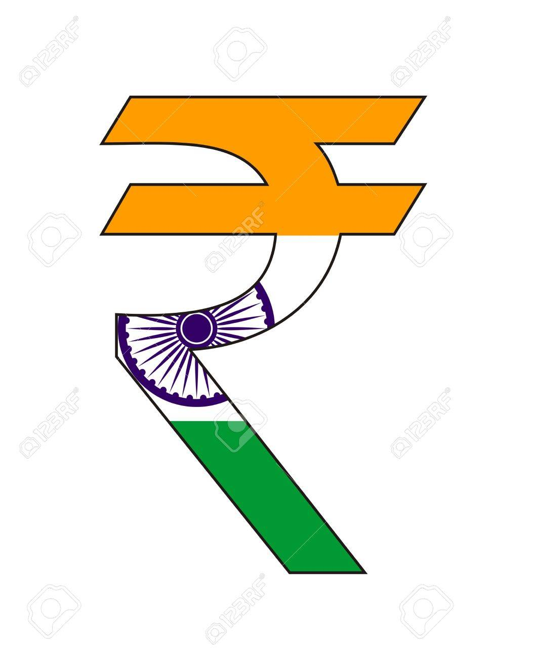 Very big size india rupee symbol with flag stock photo picture very big size india rupee symbol with flag stock photo 13292065 biocorpaavc