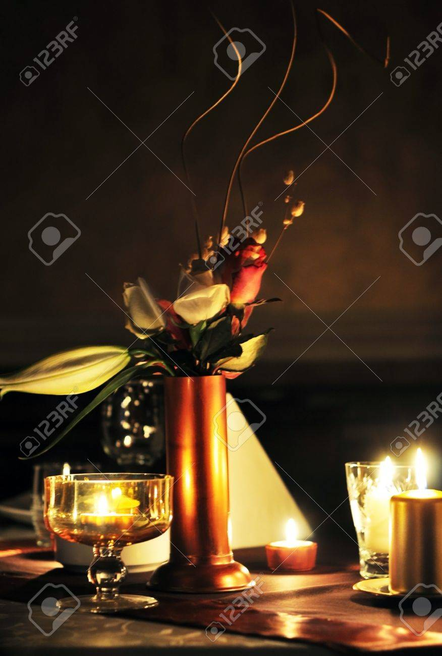Decoracion Cena Romantica Con Flores Y Velas Fotos Retratos - Cena-romantica-decoracion