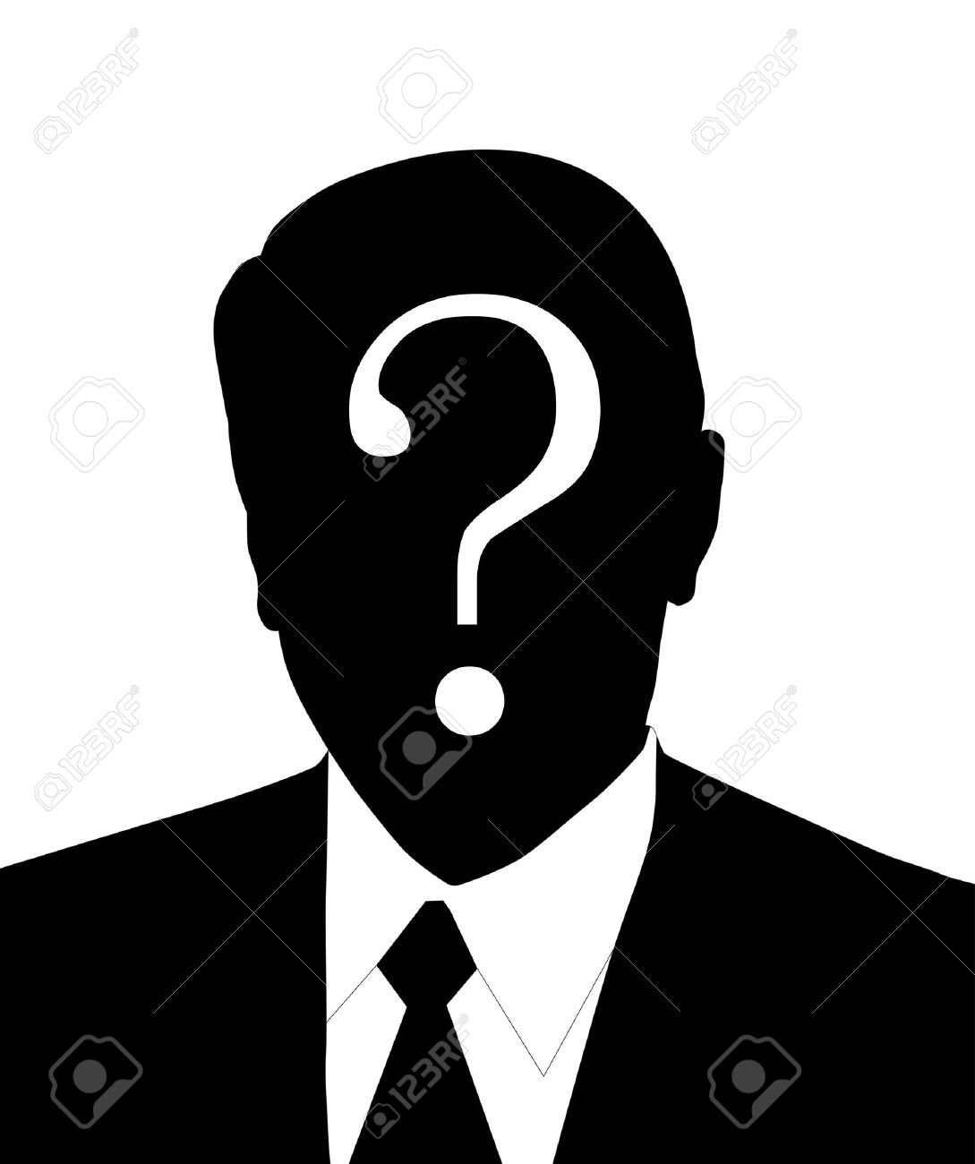 Anonymous Face Question Mark a face illustration