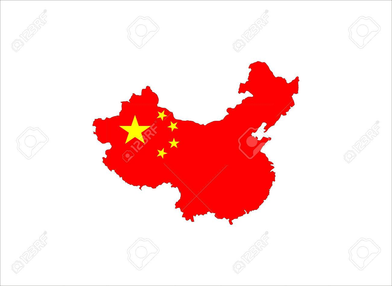 china country flag map shape national symbol stock photo picture