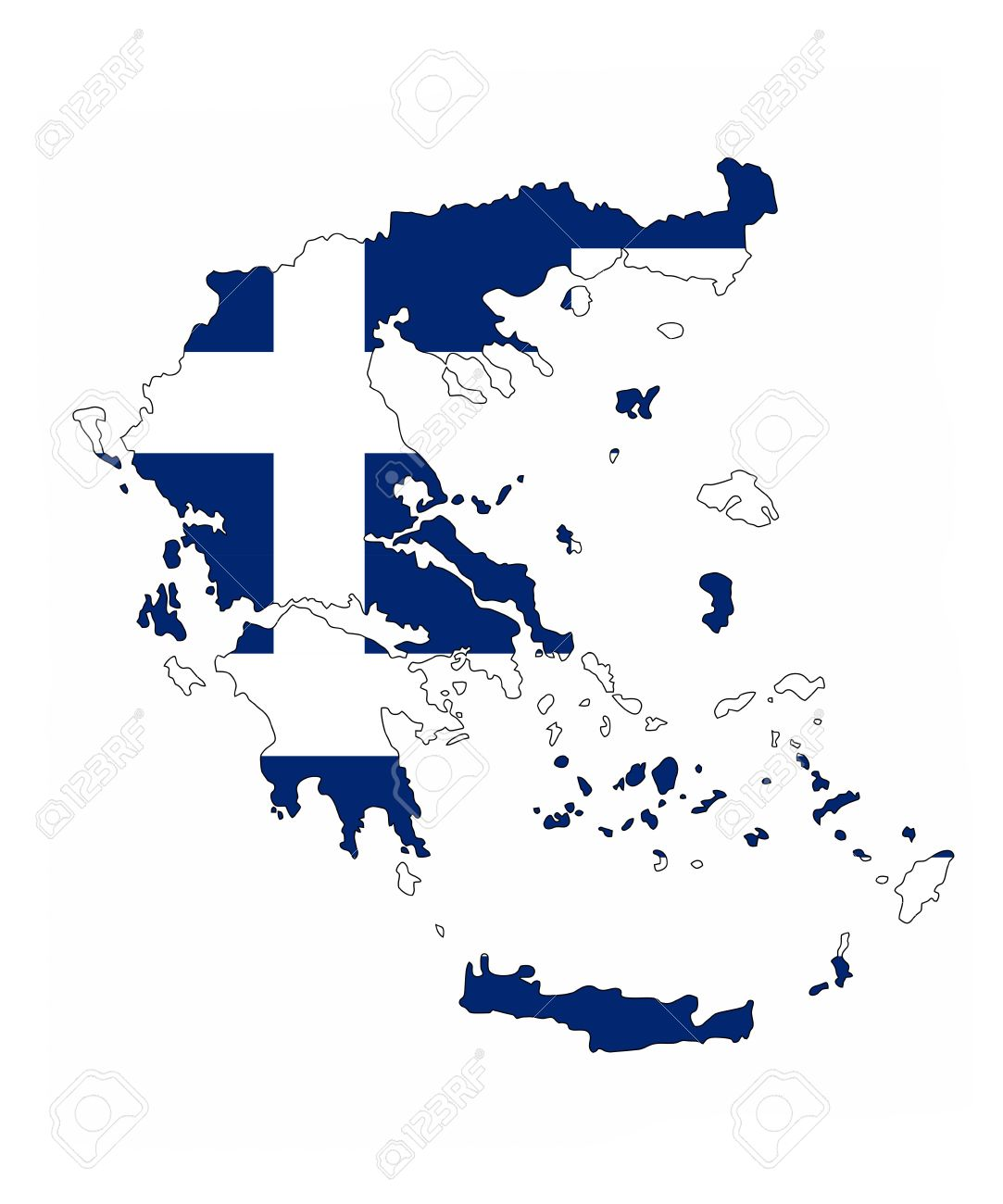 Country Of Greece Map.Greece Country Flag Map Shape National Symbol
