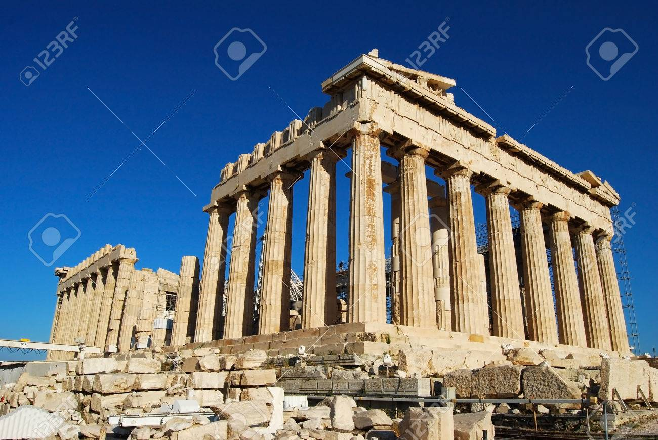 athens city greece Parthenon in Acropolis landmark
