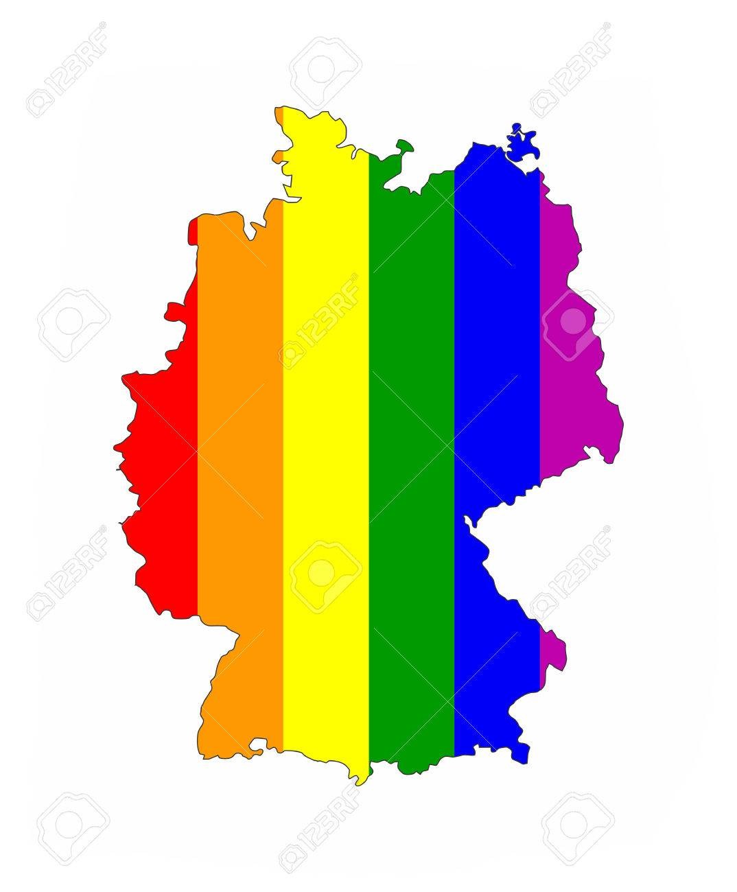Germany Country Gay Pride Flag Map Shape Stock Photo Picture And - Germany map shape