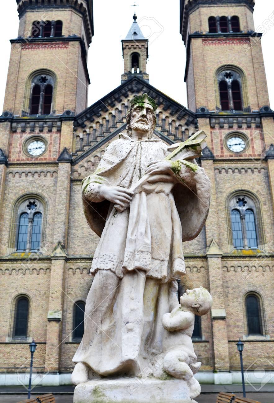 Timisoara city Romania Millennium church statue landmark
