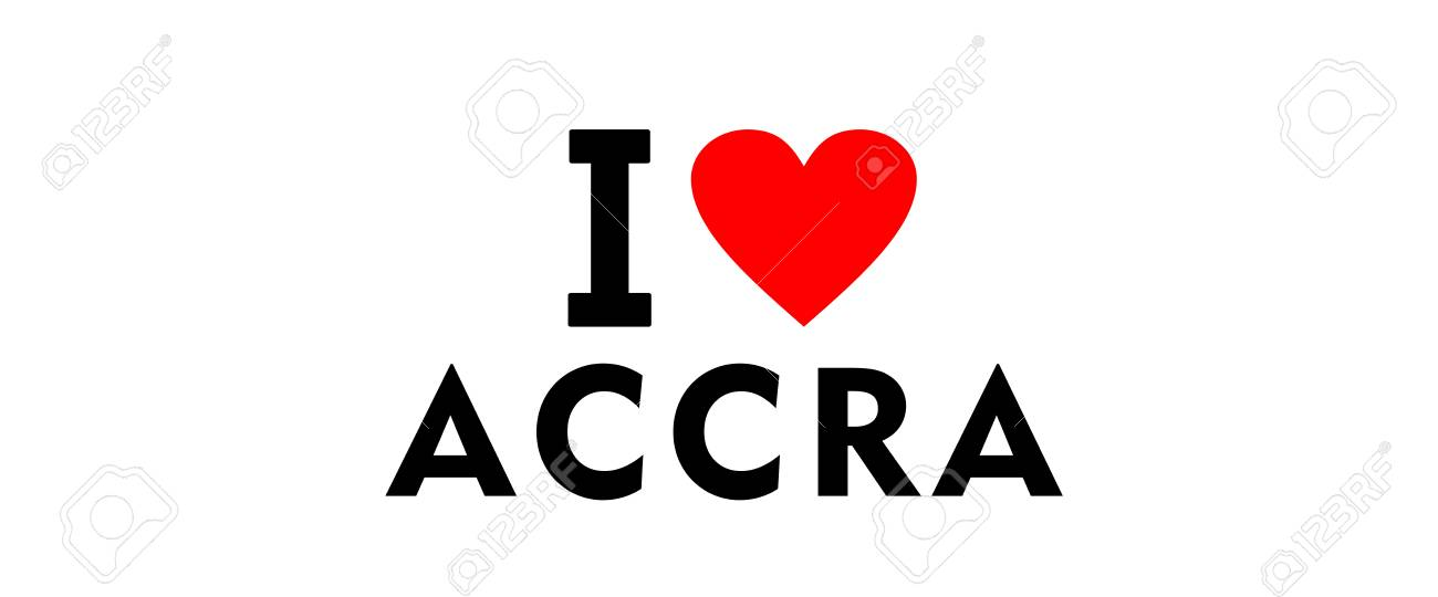 I Love Accra City Ghana Country Heart Symbol Stock Photo Picture