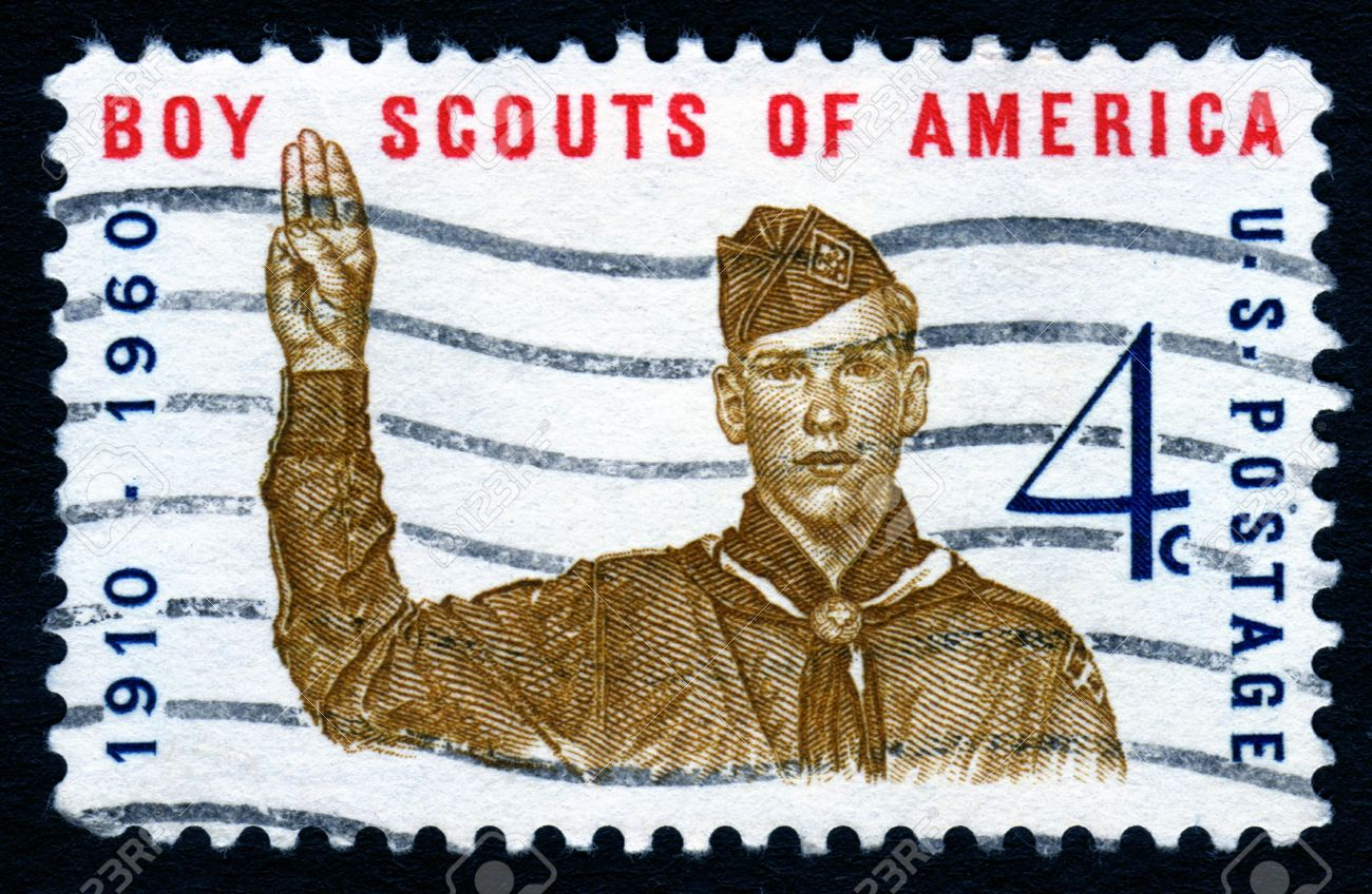 Vintage Boy Scouts Of America 4c postage stamp Stock Photo - 1980030