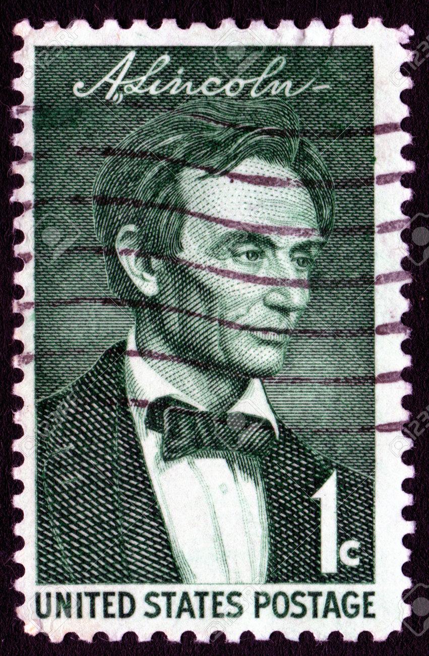 Vintage Abraham Lincoln USA 1c postage stamp  Stock Photo - 1980039