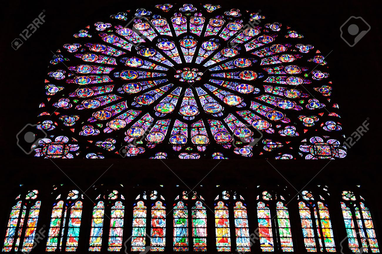 Image result for image of rose windows in Notre Dame paris