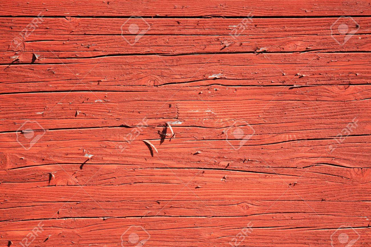 Old Wood Planks With A Rust Red Brown Peeling Paint Wash