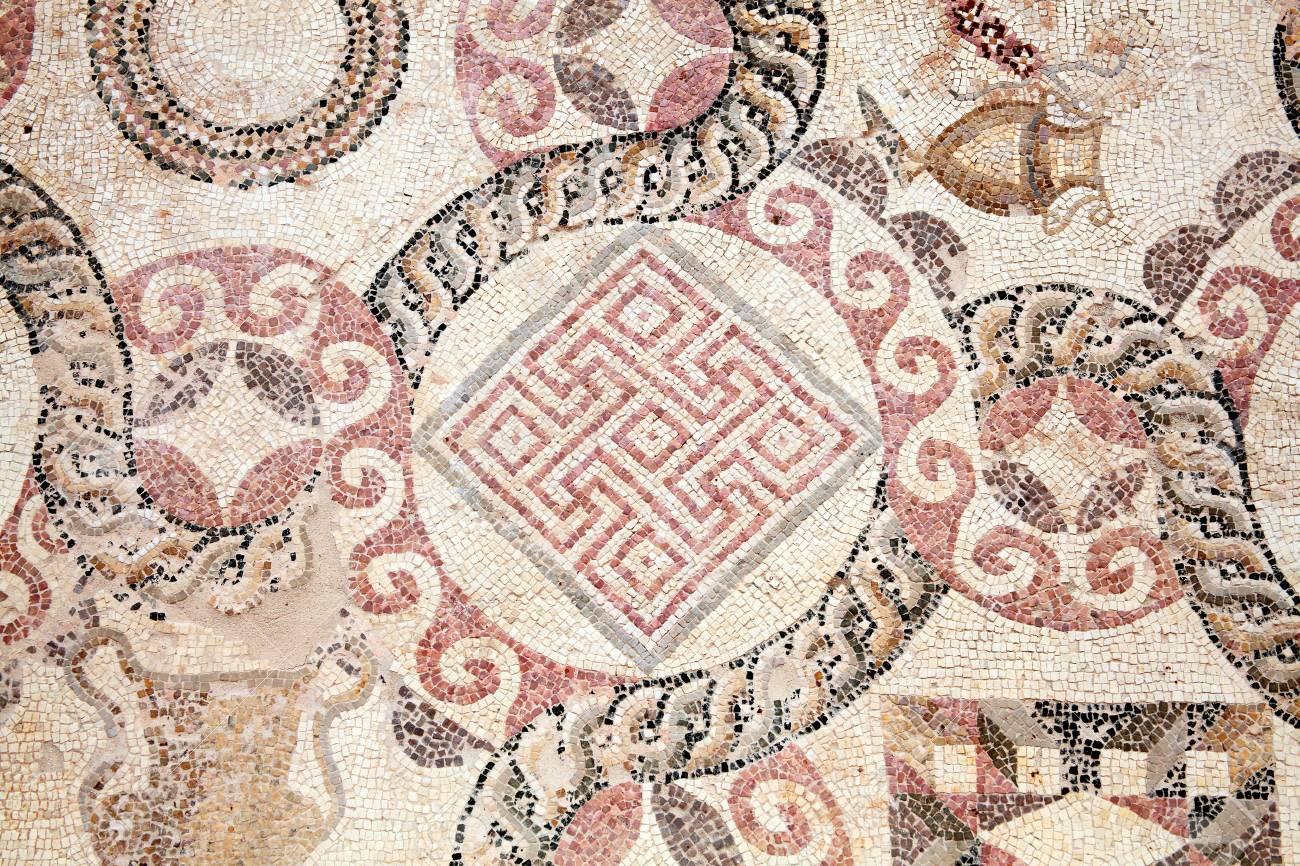 Abstract Roman Tile Art