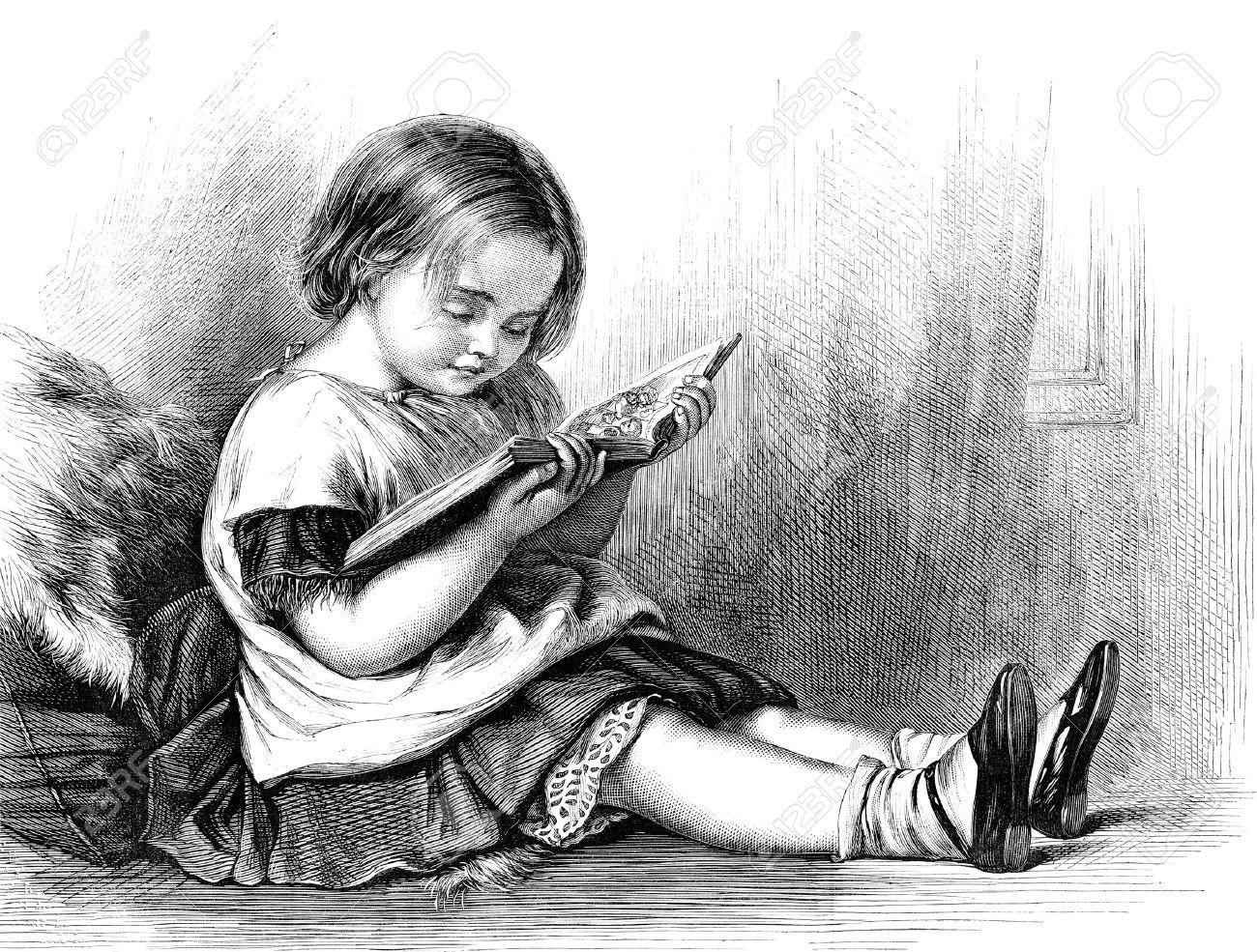 Risultati immagini per bambina che legge